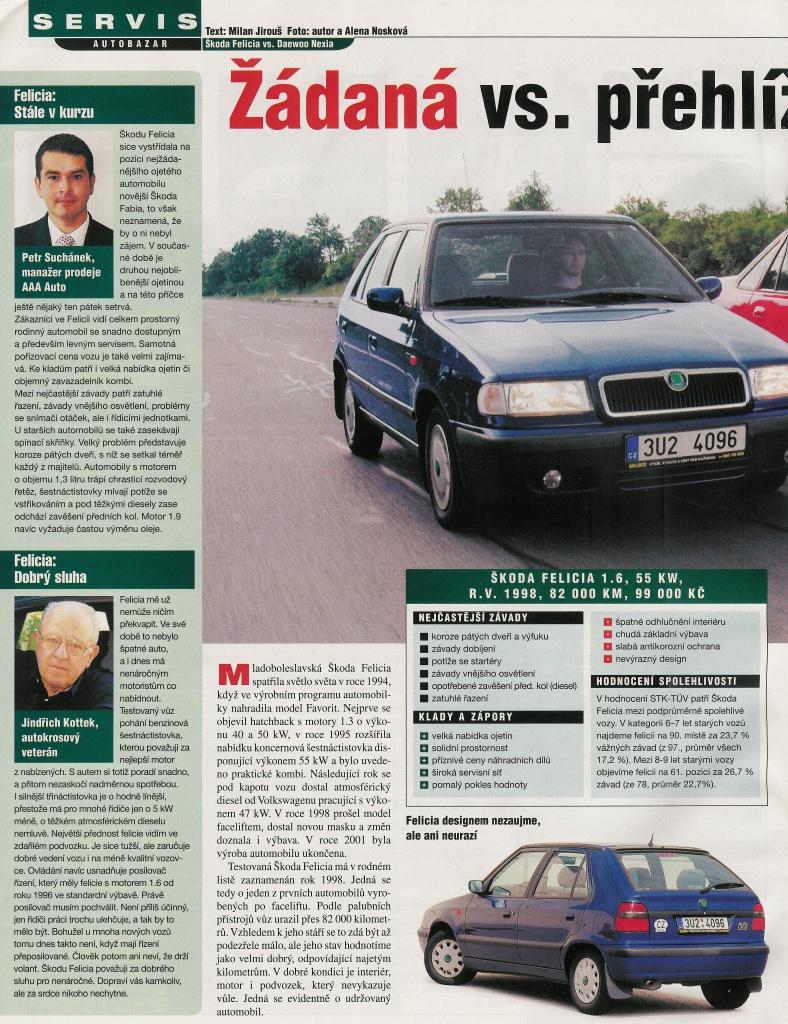 Daewoo Nexia vs. Škoda Felicia 1