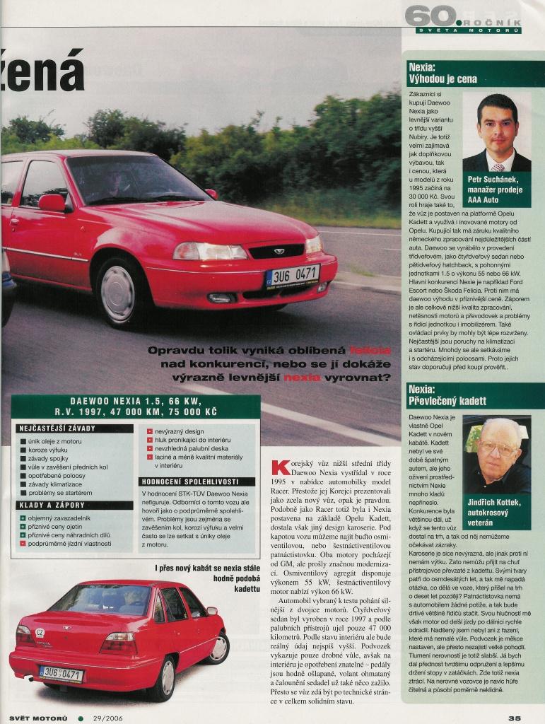 Daewoo Nexia vs. Škoda Felicia 2