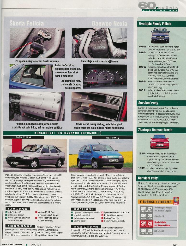 Daewoo Nexia vs. Škoda Felicia 4