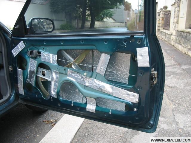 Odhlučnění předních dveří Daewoo Nexia
