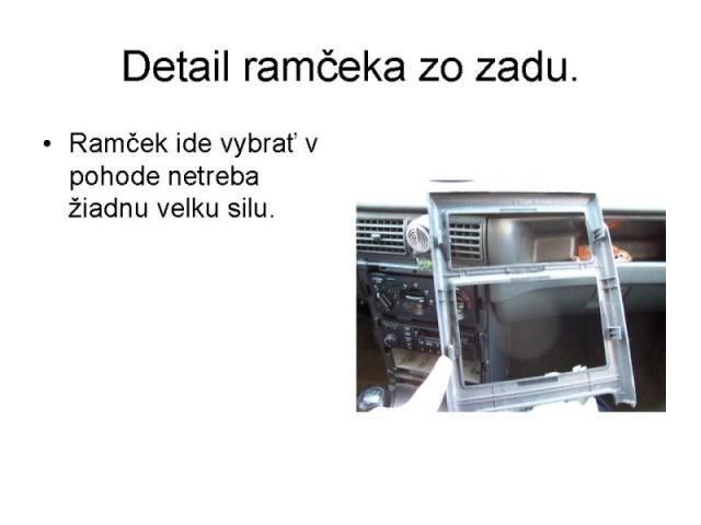 Výměna originálního radia Tank 3