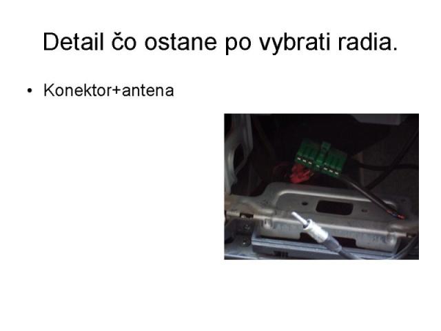 Výměna originálního radia Tank 6