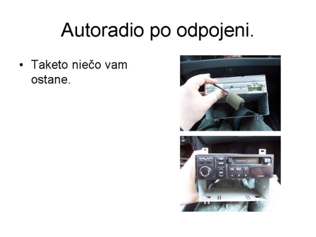 Výměna originálního radia Tank 7